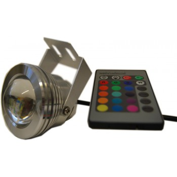 Spot led waterproof RGB + white with remote Chromotherapy