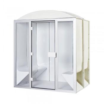 Hammam-Kabine PRO 4 Sitzplätze komplett 190 x 130 x 225 cm in Acryl + Tür und Scheiben bereit zum Desineo
