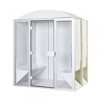 Full 4-seater hammam cabin 190 x 190 x 225 cm in acrylic - door and windows ready to mount desineo
