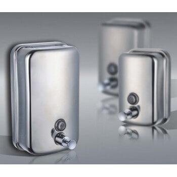 SOAP dispenser stainless steel anti vandalism 1 liter