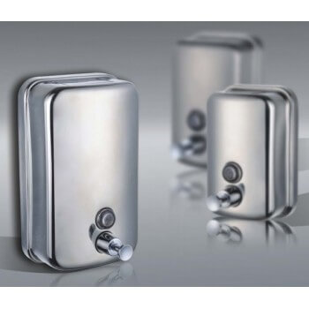 Lot of 3 dispensers of anti vandalism soap in 500ml stainless steel