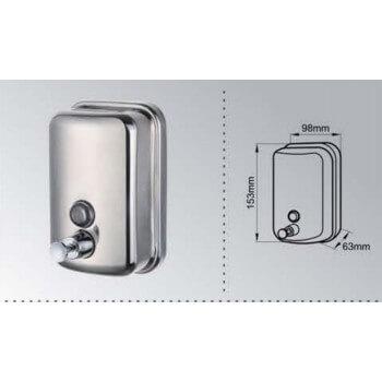 Anti-vandalism soap box in stainless steel 500ml