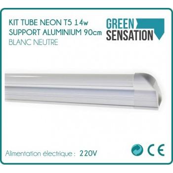 Kit de 3 Tubes 90cm Néon T5 sur support aluminium  éclairage LED économique