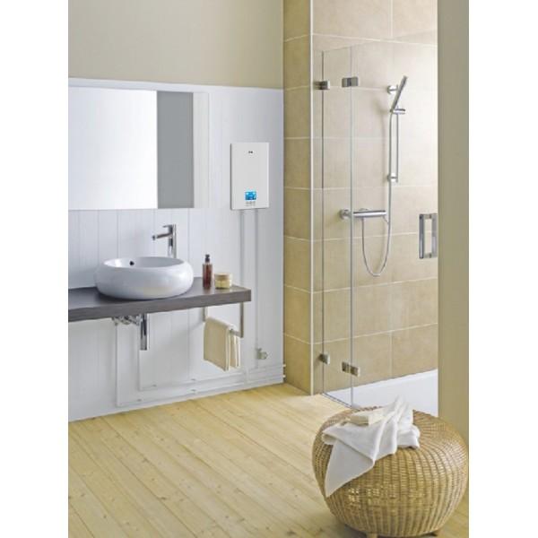chauffe eau instantané 8,8kw kgt réglage tactile douche,lave mains
