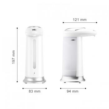 Soap vending machine, hydroalcoholic gel 330 ml grey and white soap dispense auto dispense