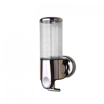 Soap dispenser and shampoo 500 ml ergonomic transparent