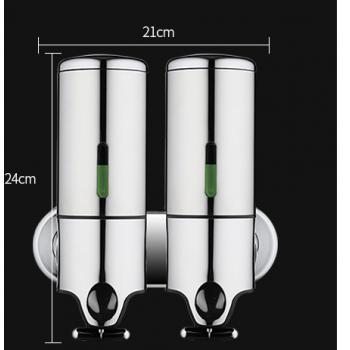 Double soap dispenser and shampoo 2 x 500 ml ultra ergonomic