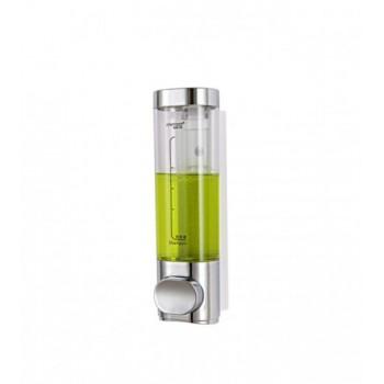 Double distributeur à savon et shampoing 2 x 500ml ultra ergonomique