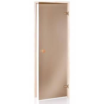 Bronze Sauna Tür 80 x 190 gehärtetem Glas 8mm sicher