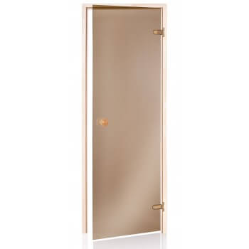 Porte de Sauna Bronze 80 x 190 en verre trempé 8mm securit