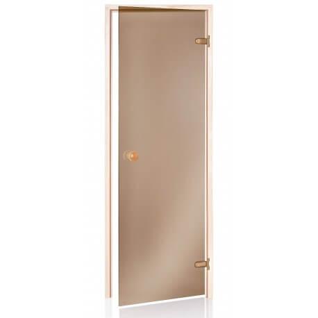 Sauna Porta in bronzo 80 x 190 vetro temperato 8mm sicuro