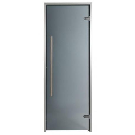 Door for Hammam premium 100 x 190 cm passage handicapped vertical handle tinted gray