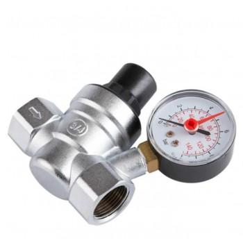 Riduttore di pressione dell'acqua regolabile in ottone 3/4 da 1 a 10 bar