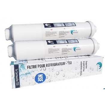2x Water Filter for Refrigerator Compatible All Frigo Americain or Standard
