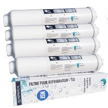4x Water Filter for Refrigerator Compatible All Frigo Americain or Standard