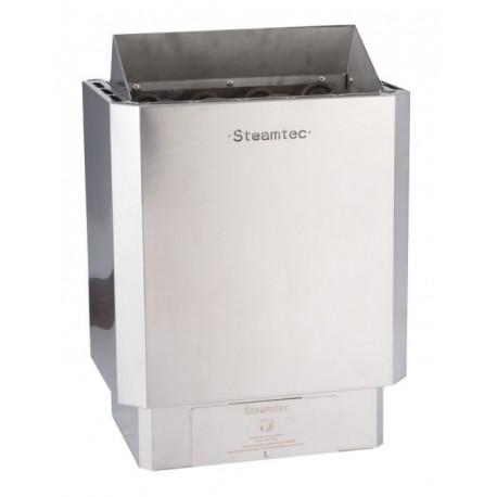 Poêle à sauna 3 Kw premium avec commandes intégrées finitions inox