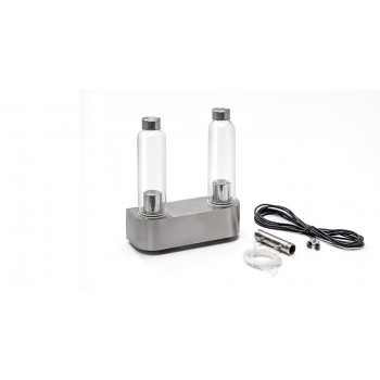 Stainless steel aromatherapie pump for hammam 2 fragrances