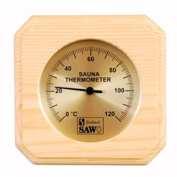 SAWO Sauna Thermometer im Kiefer