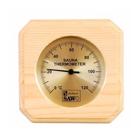 SAWO Sauna thermometer in pine