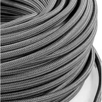 Black vintage retro fabric look woven wire