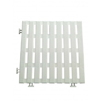 Pack 50 slabs anti-slip 30 cm square white (50 pieces) waterproof pvc for all wetlands