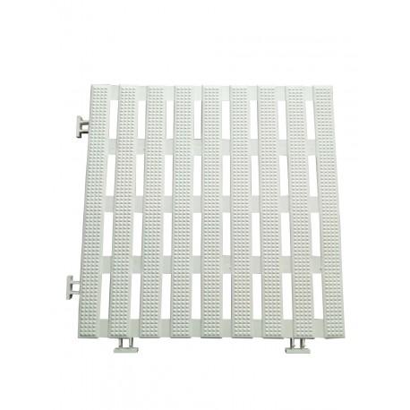 Sol anti-dérapant 1.2 m carré blanc (12 pièces) en pvc étanche pour tous milieux humides