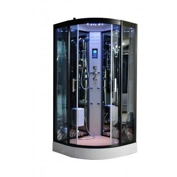 Cabina de docha Full opciones 80 x 80 cm con vapor bluetooth, altavoce, LED
