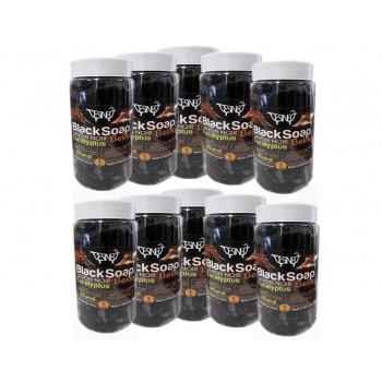 Lot de 10 kg de savon noir 100% naturel BIO à l'eucalyptus beldi pour soin du corps