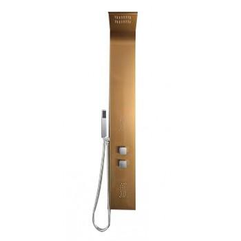 Rose Gold multifunction shower column brushed 130 x 18 cm S501