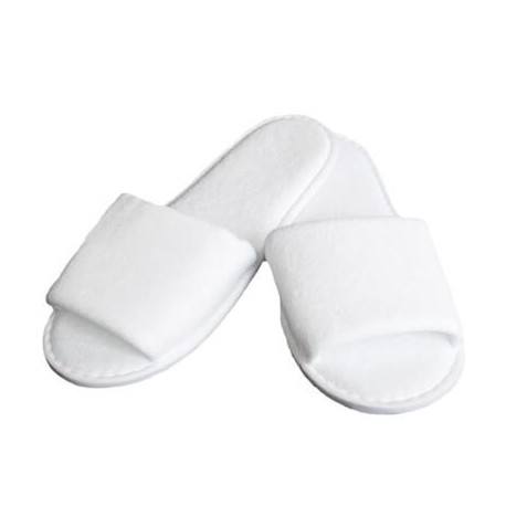 Lot of 20 pairs of slippers sponge disposable white for spa, hotel, spa, swimming pool...