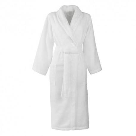 Mixed bathrobe size L 100% cotton 420 gr/m2 white