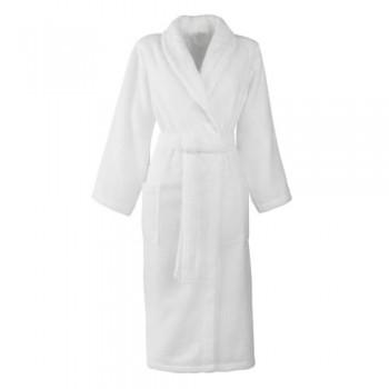 Albornoz mixto tamaño XL 100% algodón 420 g/m2 blanco