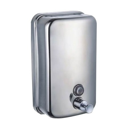 Lot of 3 dispensers of stainless steel soap anti vandalism 1 Litre