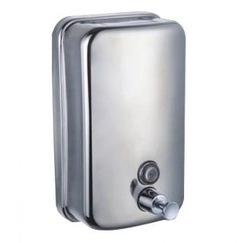 Lot de 3 distributeurs de savon anti vandalisme en inox 500ml