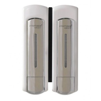 Doppel-Seifenspender und Shampoo 2 x 500 ml undurchsichtig undurchsichtig und ergonomisch