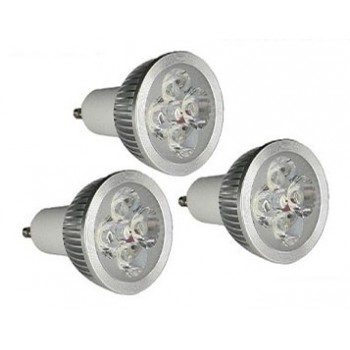 set di 3 lampadine LED GU10 4w 4X1w ad alta intensità GreenSensation