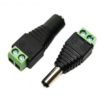 lot de 5 fiches d'alimentations m/f type CCTV pour 12/24V