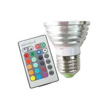 Set di 3 lampadine di colore LED RGB con telecomando