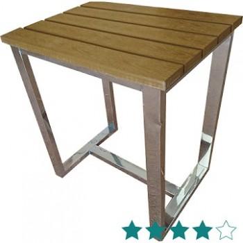 Taburete Hammam ducha de acero inoxidable y madera de la resina