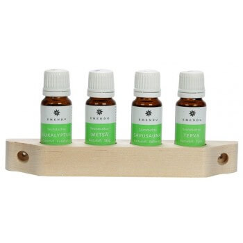AROMAS EMENDO SAUNA 4 x 10 ml + wall shelf