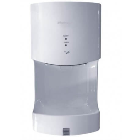 Hand dryer with tray drop Recovery white ABS VITECH
