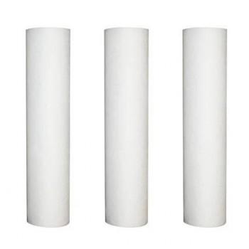 Conjunto de 3 recargas contra sedimentos 10 micras para filtro de puerta 9-3/4-10 pulgadas