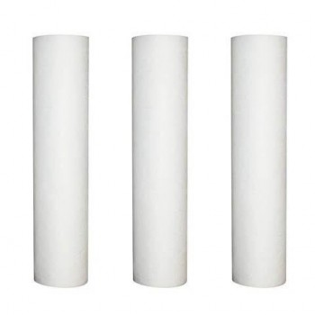 Set of 3 refills anti-sediment 10 microns for door filter 9-3/4-10 inches