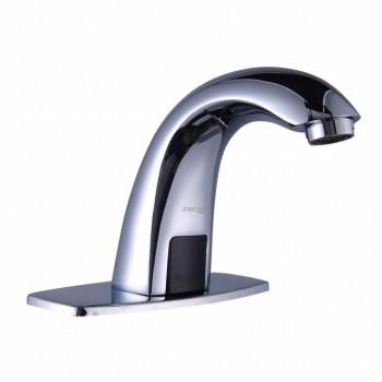 Wasserhahn, Edelstahl, mit automatischem Infrarotauslöser