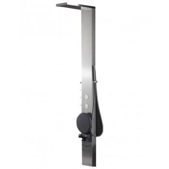 Columna de 215x33x20cm inoxidable de ducha balneo S179-T con asiento incorporado