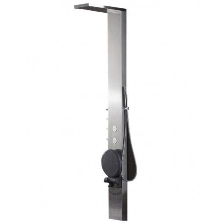 Column of balneo shower stainless 215x33x20cm S179-T with built-in seat
