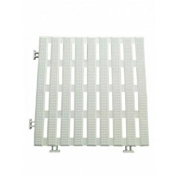 Anti-slip slats 1.2 m2 white (12 slabs) waterproof PVC 30 x 30 cm