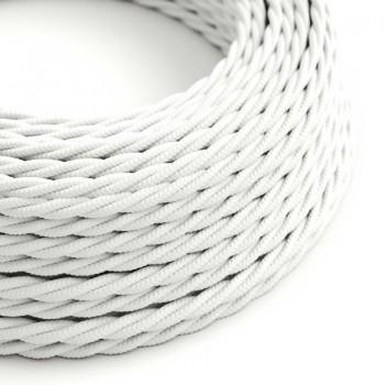 Vintage white woven wire fabric retro look