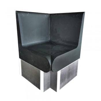 Banc angle arrondis 600x586x870 mm avec dossier XPS prêt à carreler pour hammam et salle de bain valstorm