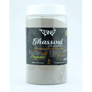 Ghassoul traditional Organic Natural Beldi 1kg white clay